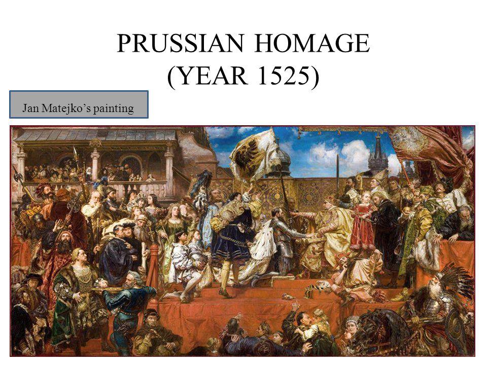 PRUSSIAN HOMAGE (YEAR 1525) Jan Matejko's painting