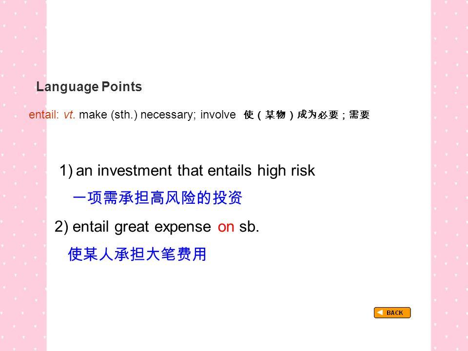 Language Points entail: vt.