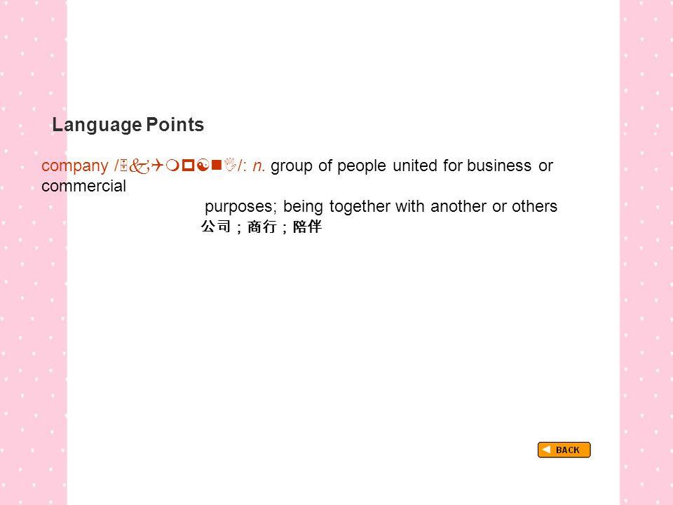 Language Points company /  /: n.
