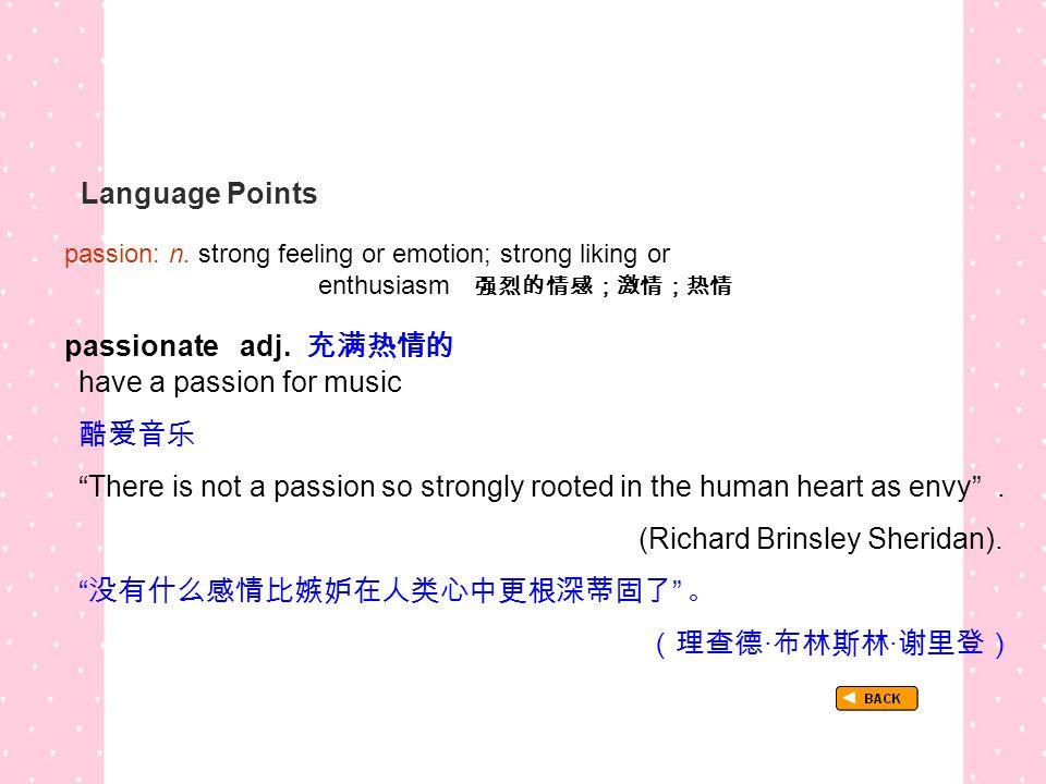 Language Points passion: n.