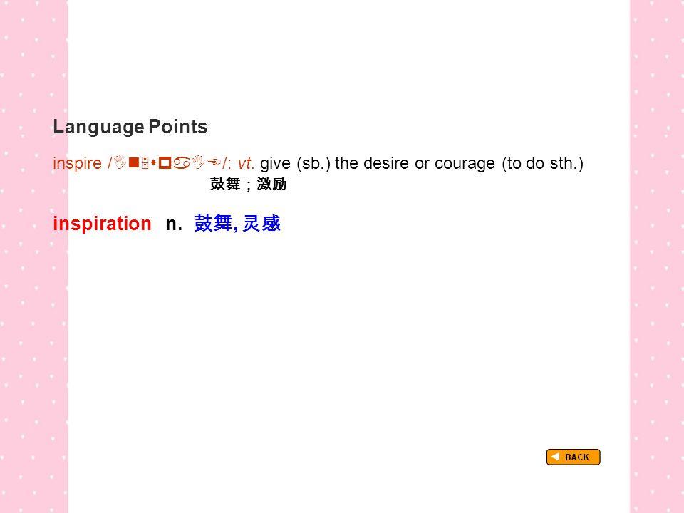 Language Points TextB_P3_LP_ inspire inspire /  /: vt.