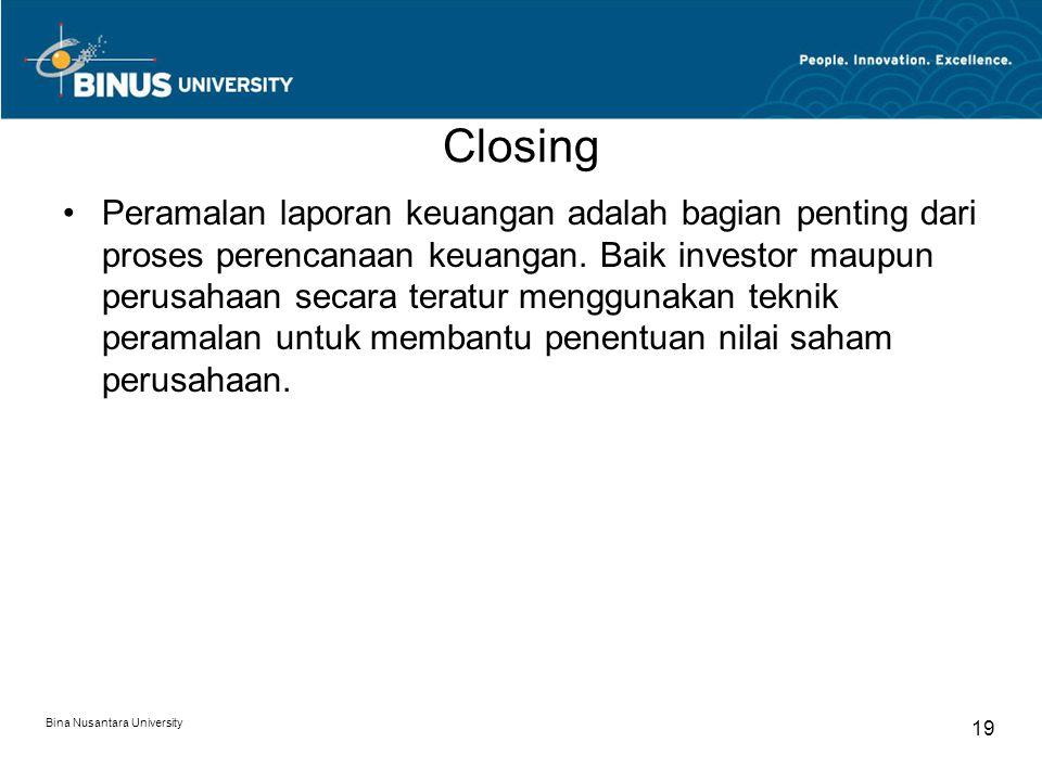 Closing Peramalan laporan keuangan adalah bagian penting dari proses perencanaan keuangan.