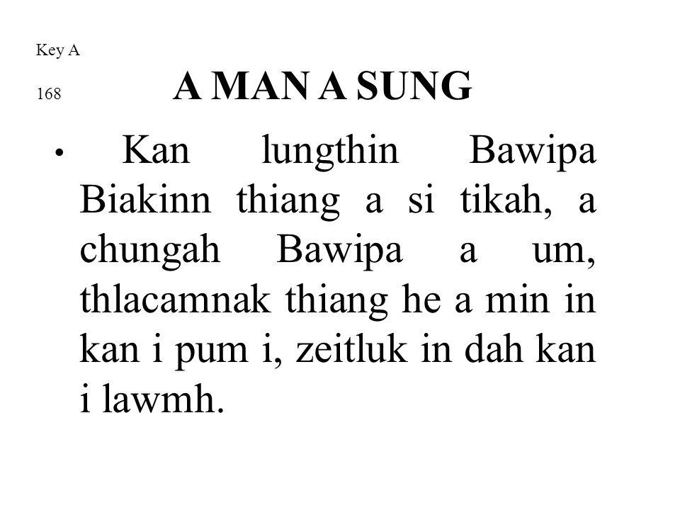 Kan lungthin Bawipa Biakinn thiang a si tikah, a chungah Bawipa a um, thlacamnak thiang he a min in kan i pum i, zeitluk in dah kan i lawmh.