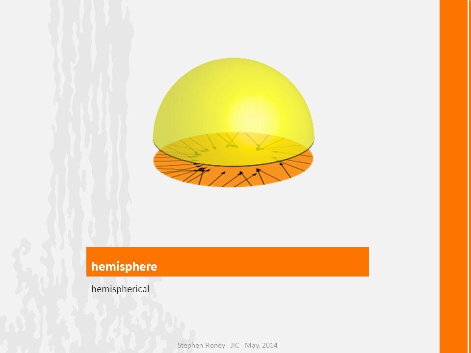 hemisphere hemispherical Stephen Roney JIC May, 2014