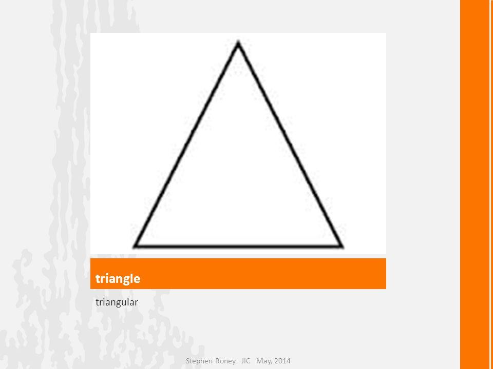 triangle triangular Stephen Roney JIC May, 2014