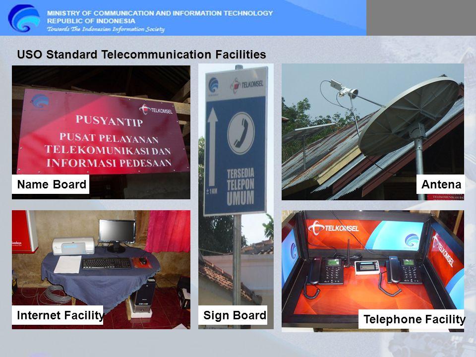 USO Standard Telecommunication Facilities Name Board Internet Facility Telephone Facility Antena Sign Board
