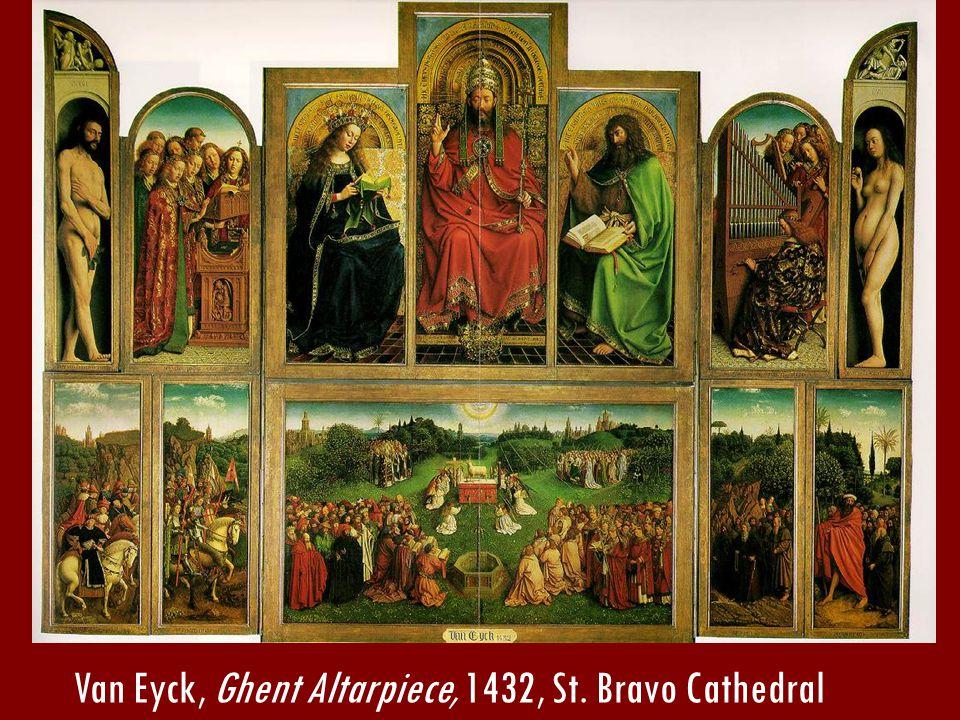 Van Eyck, Ghent Altarpiece, 1432, St. Bravo Cathedral