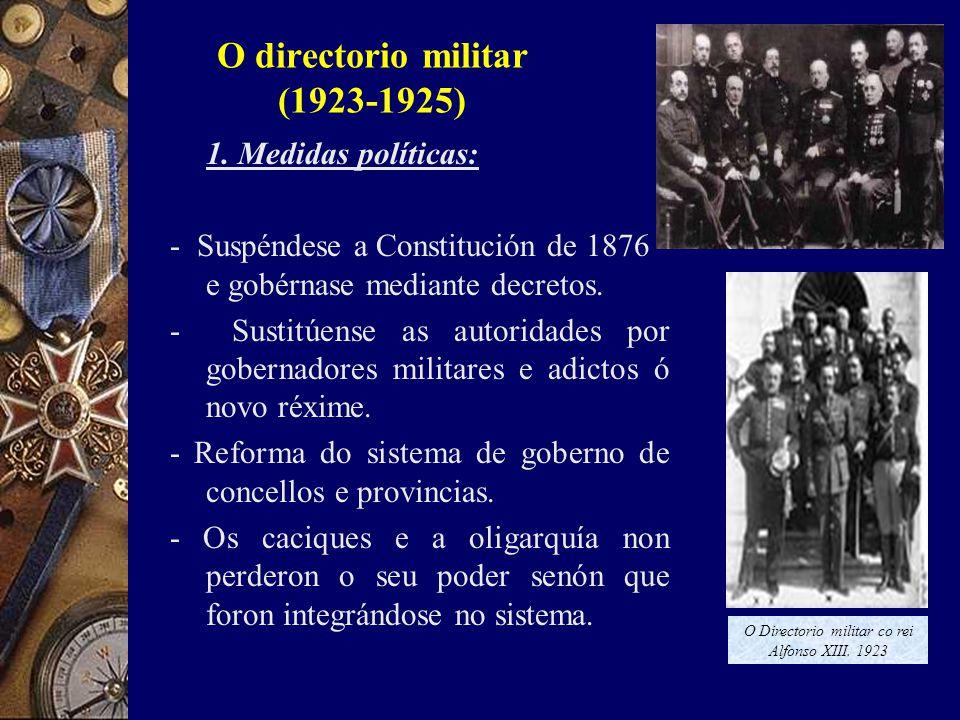O directorio militar (1923-1925) 1.