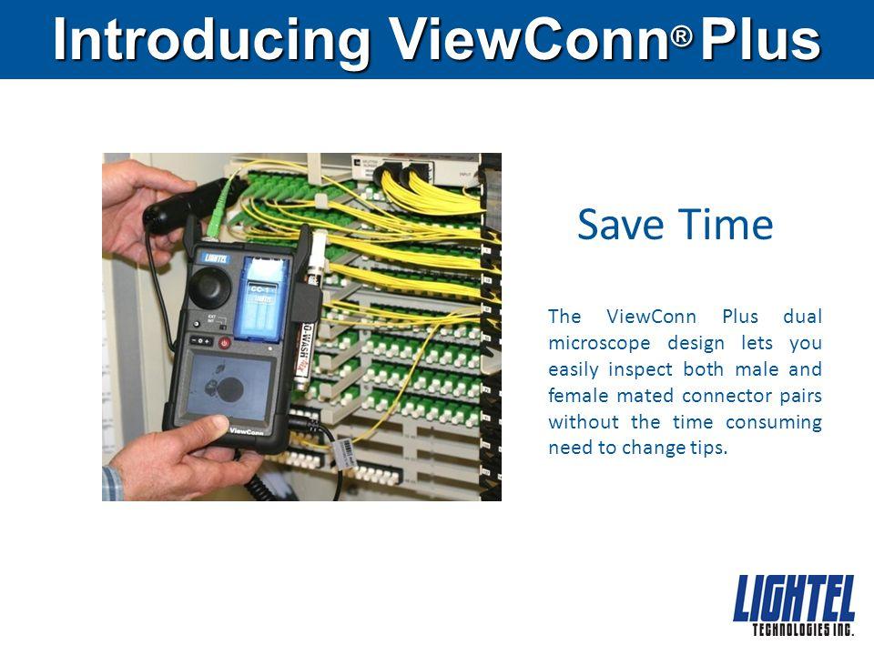 1.Fiber Optic Connector 2. ViewConn Adapter Tip 4.
