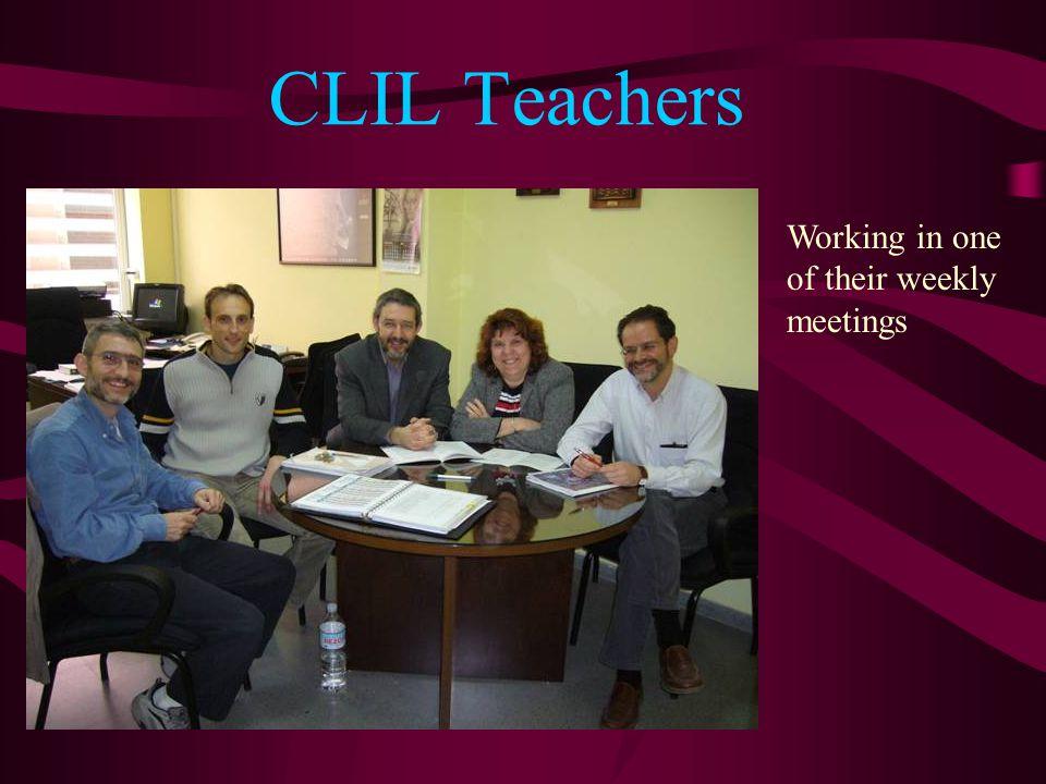 CLIL Teachers Working in one of their weekly meetings