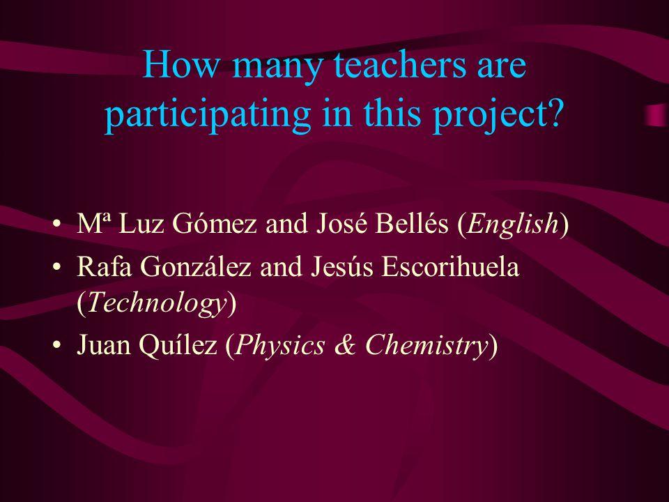 Students /Subjects 'Primero de bachillerato'.Voluntary students.
