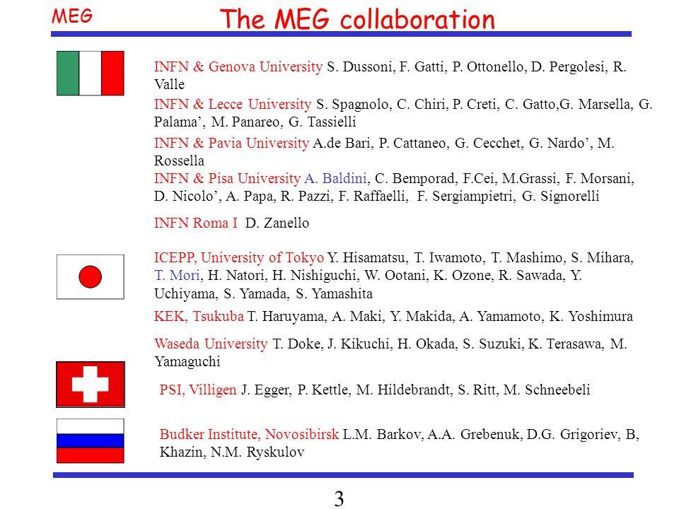 MEG 3 INFN & Pisa University A. Baldini, C. Bemporad, F.Cei, M.Grassi, F.