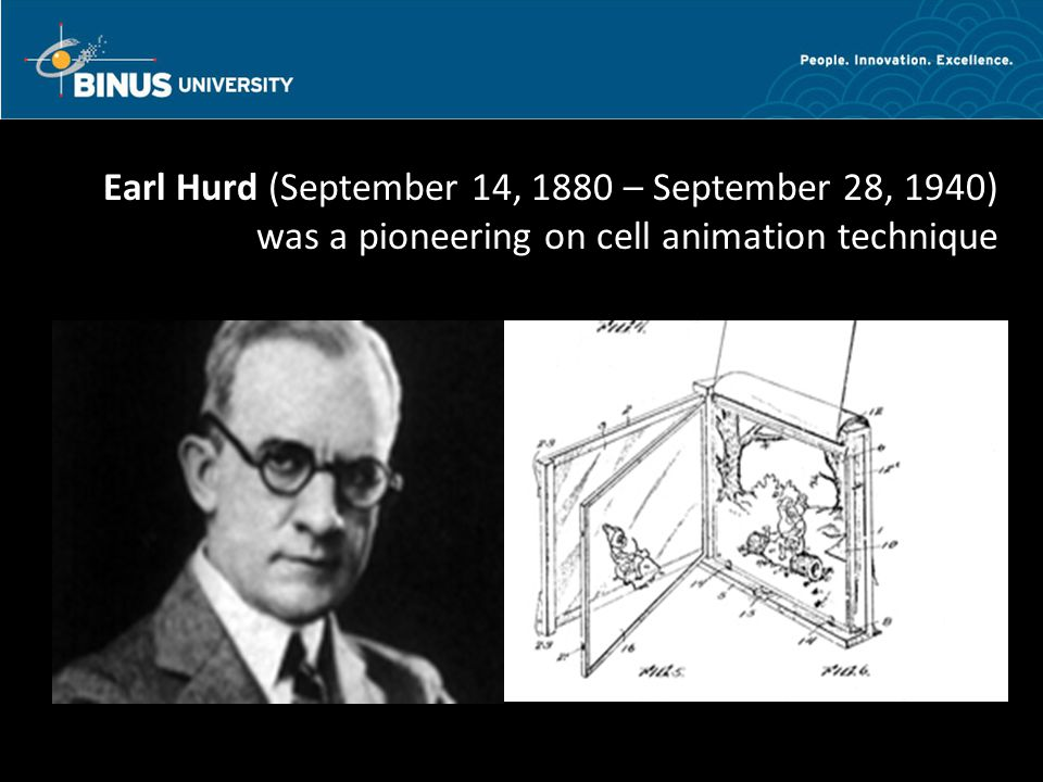 Bina Nusantara Earl Hurd (September 14, 1880 – September 28, 1940) was a pioneering on cell animation technique