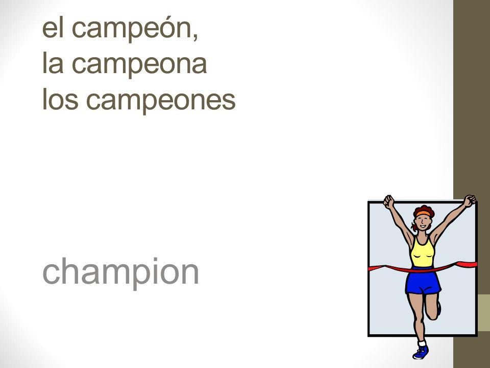 el / la atleta athlete