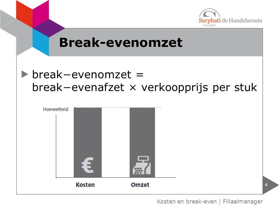 Kosten en break-even | Filiaalmanager Break-evenomzet 4