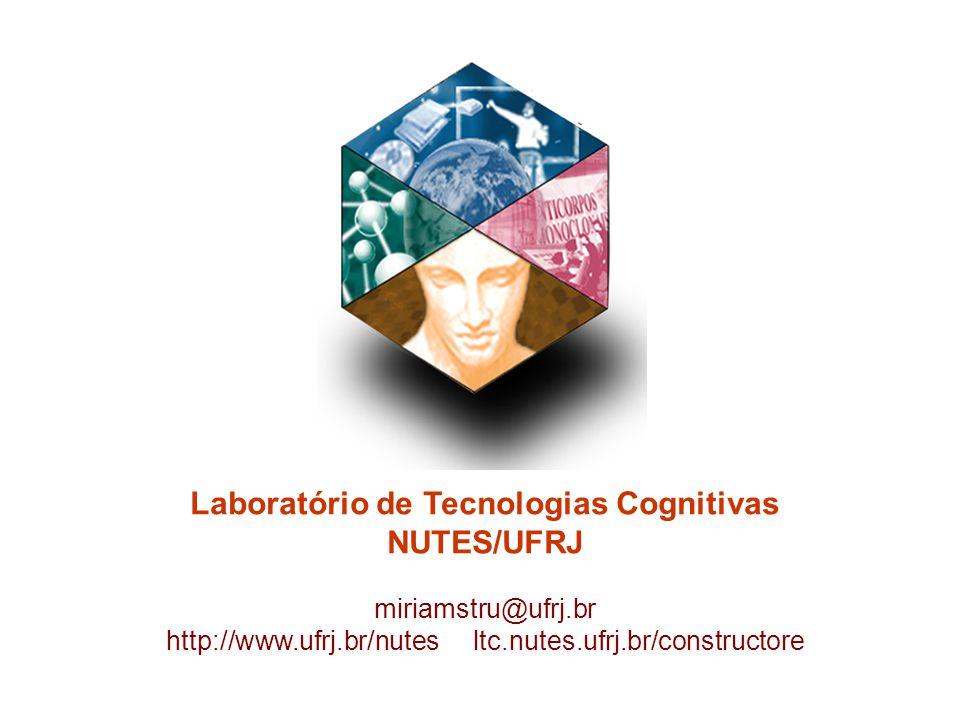 Laboratório de Tecnologias Cognitivas NUTES/UFRJ miriamstru@ufrj.br http://www.ufrj.br/nutes ltc.nutes.ufrj.br/constructore