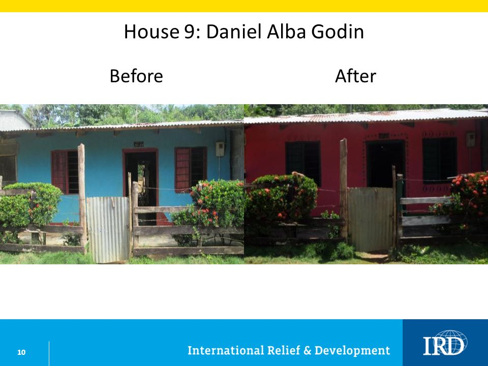 10 House 9: Daniel Alba Godin BeforeAfter