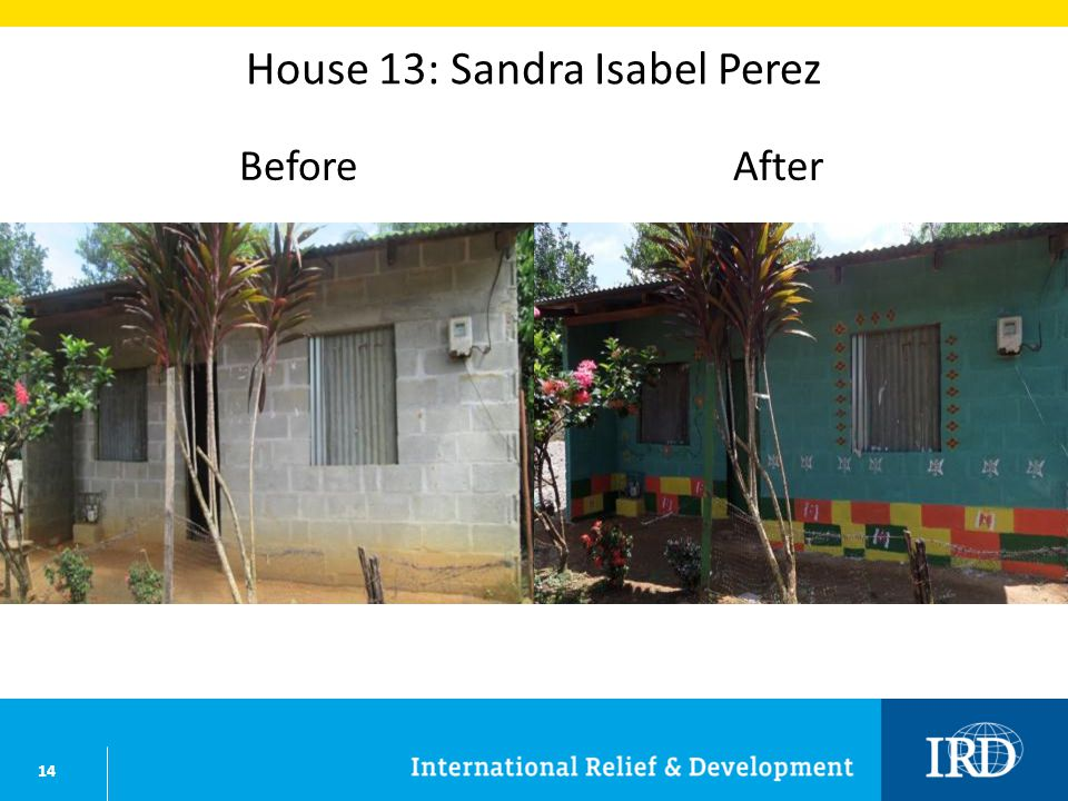 14 House 13: Sandra Isabel Perez BeforeAfter