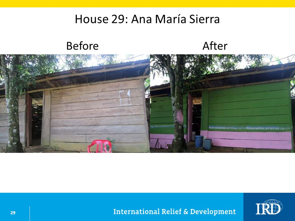 29 House 29: Ana María Sierra BeforeAfter