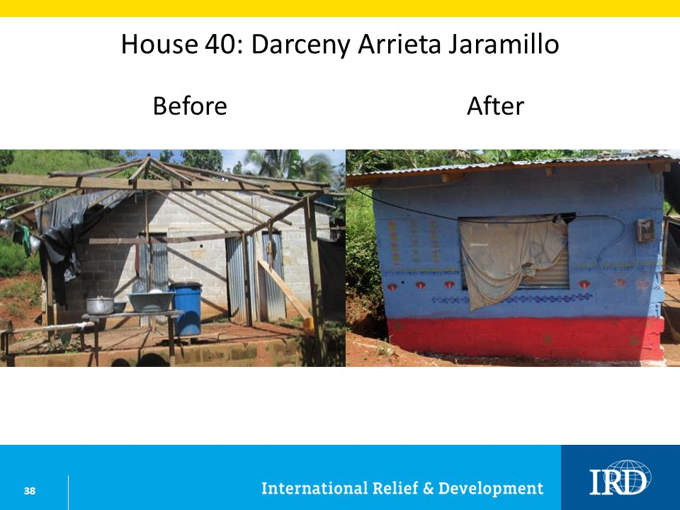 38 House 40: Darceny Arrieta Jaramillo BeforeAfter