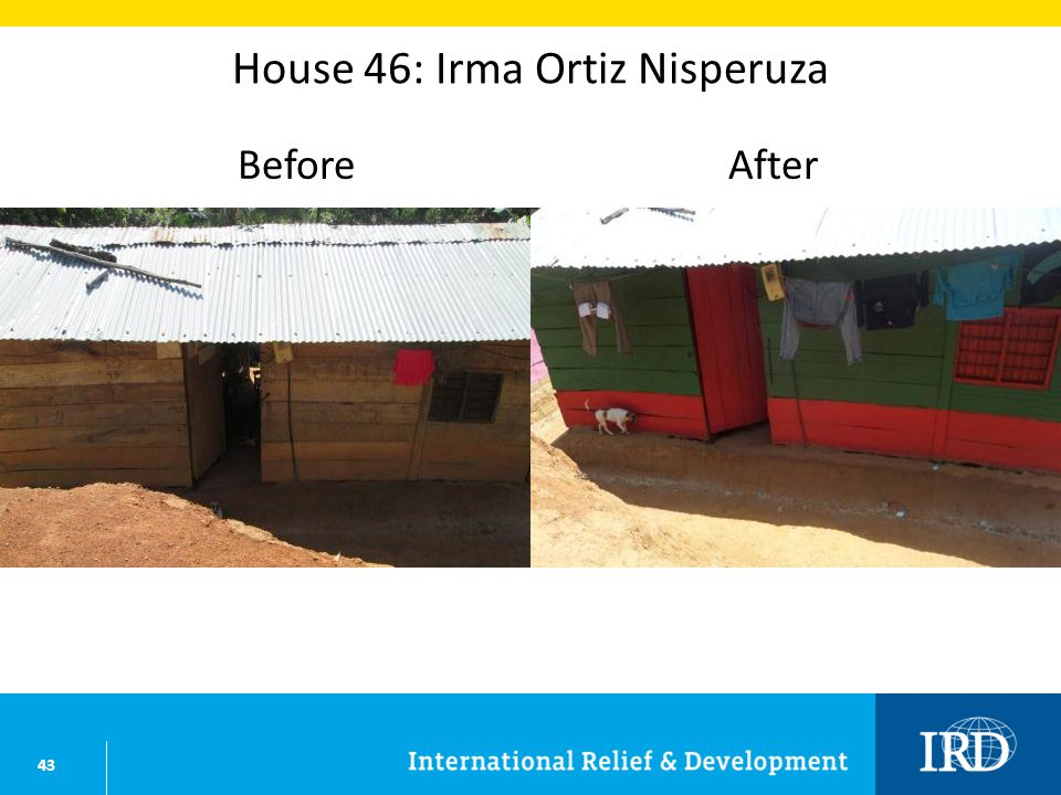 43 House 46: Irma Ortiz Nisperuza BeforeAfter