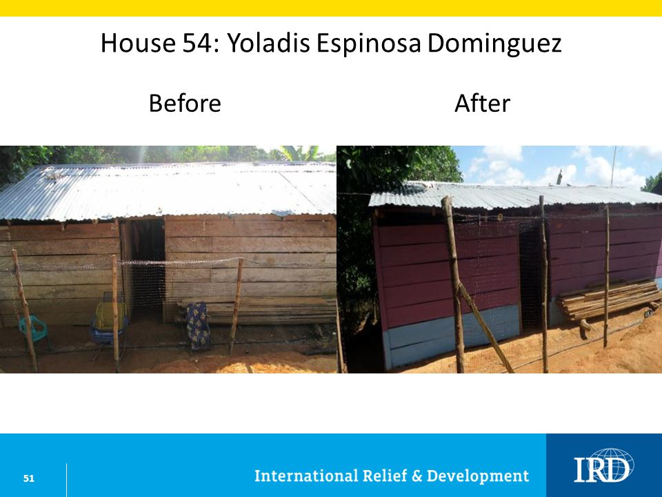 51 House 54: Yoladis Espinosa Dominguez BeforeAfter