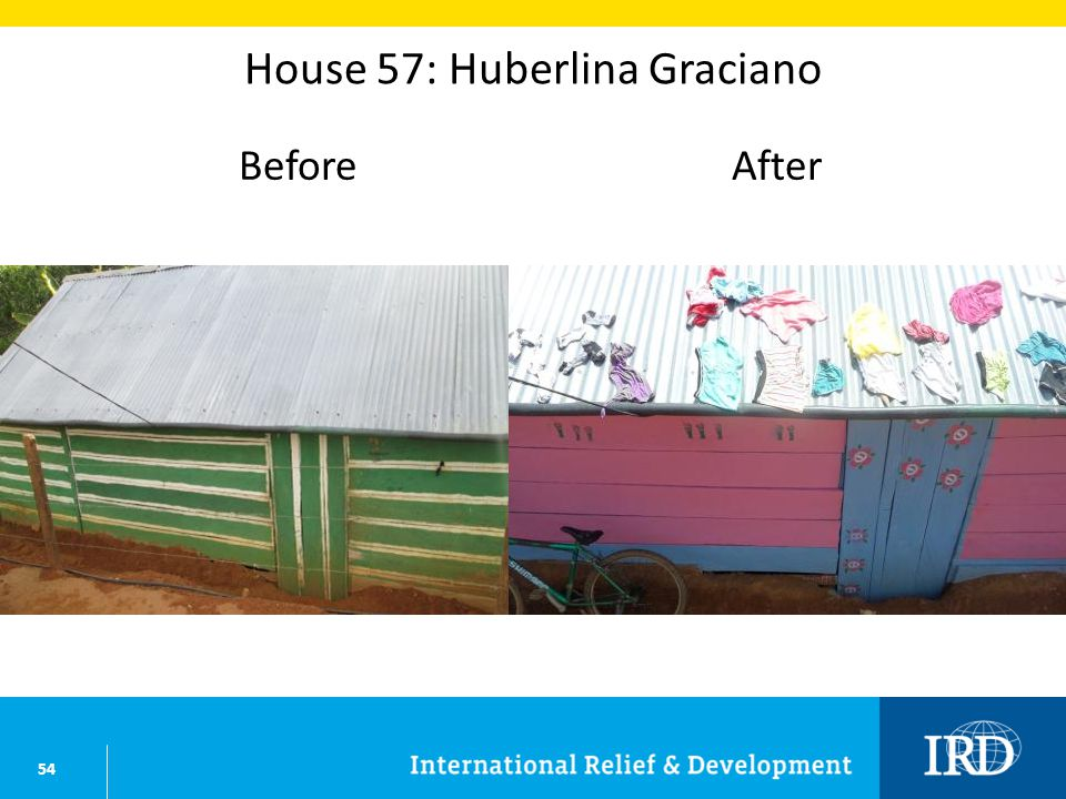 54 House 57: Huberlina Graciano BeforeAfter