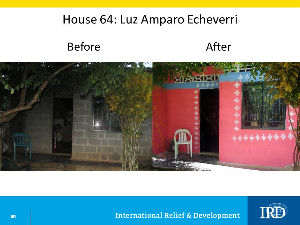 60 House 64: Luz Amparo Echeverri BeforeAfter