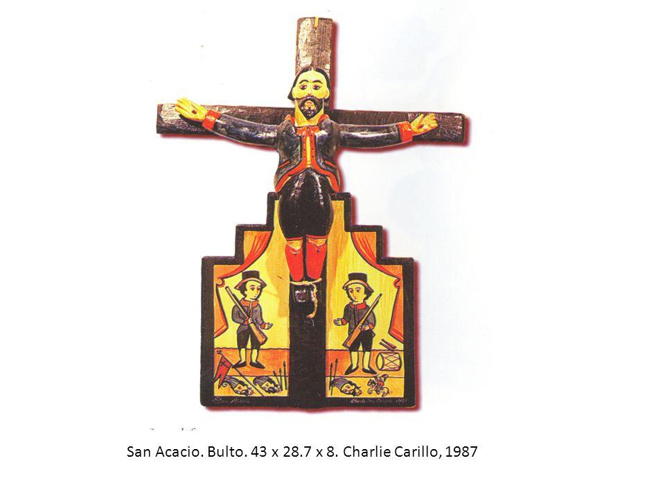 San Acacio. Bulto. 43 x 28.7 x 8. Charlie Carillo, 1987