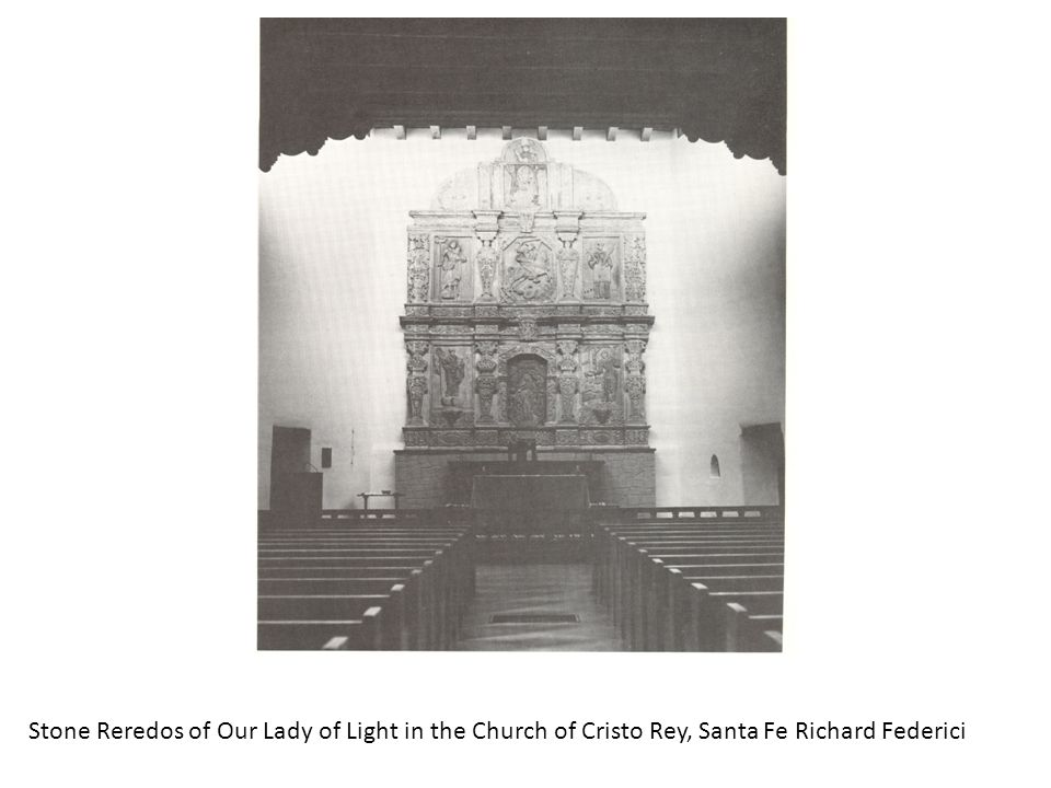 Stone Reredos of Our Lady of Light in the Church of Cristo Rey, Santa Fe Richard Federici