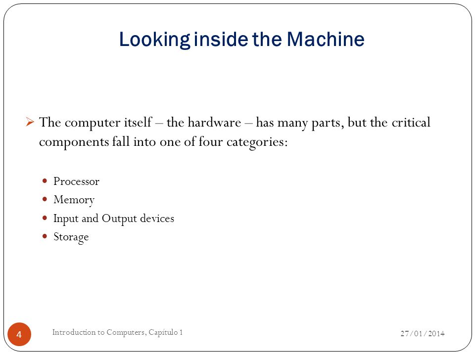 The Processor  The computer's brain, which organizes and carries out instructions from either the user or the software.