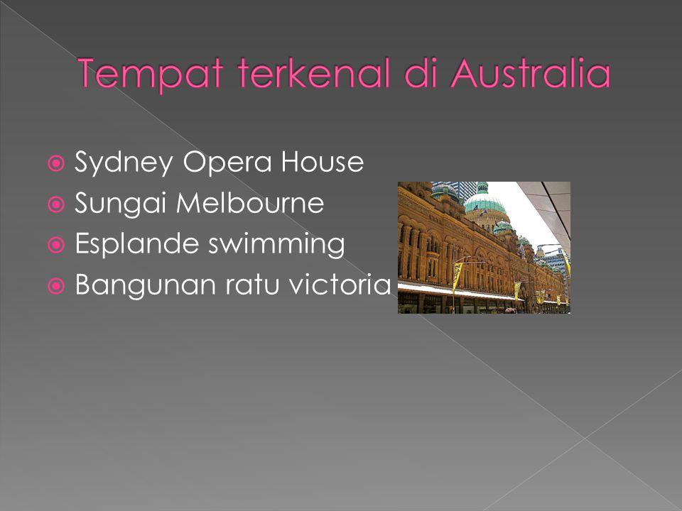  Sydney Opera House  Sungai Melbourne  Esplande swimming  Bangunan ratu victoria