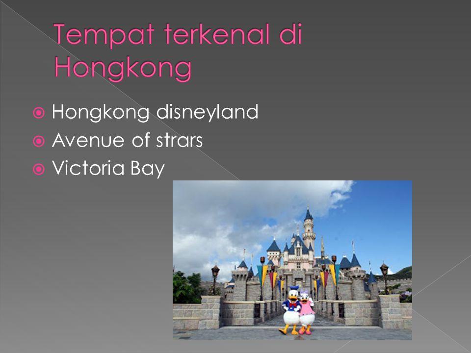  Hongkong disneyland  Avenue of strars  Victoria Bay