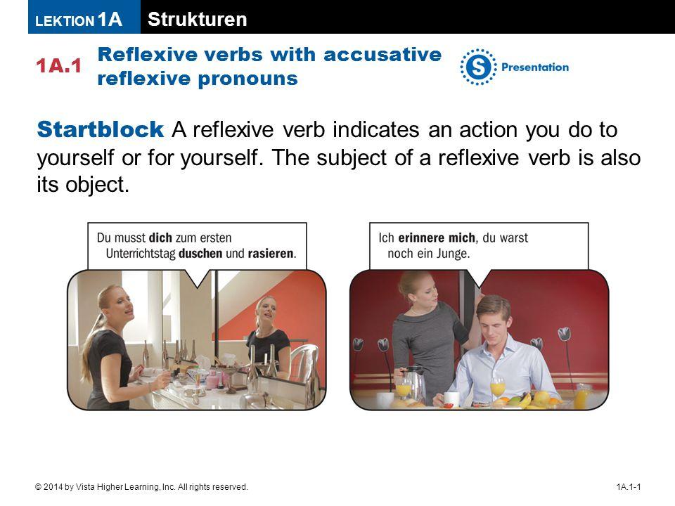 Strukturen 1A.1 LEKTION 1A 1A.1-1© 2014 by Vista Higher Learning, Inc.