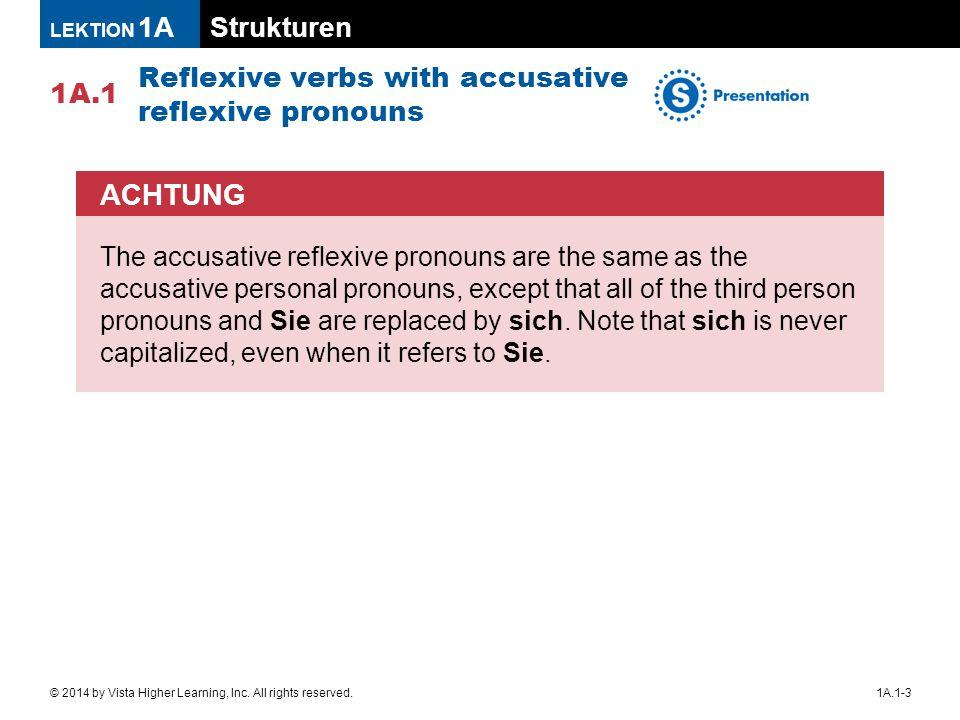 Strukturen 1A.1 LEKTION 1A 1A.1-14© 2014 by Vista Higher Learning, Inc.