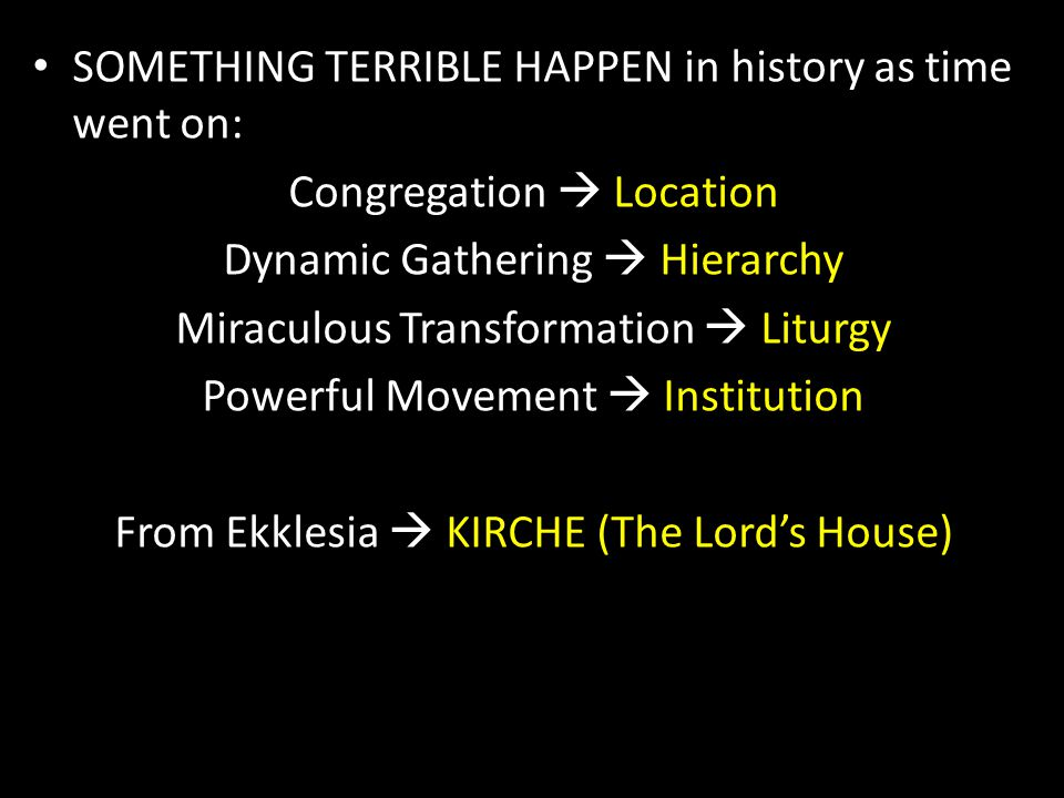 Ekklesia  Kirche  Church Movement  Mechanism  Monument God Wants us to become the Ekklesia Powerful Movement w/ Miraculous Transformation