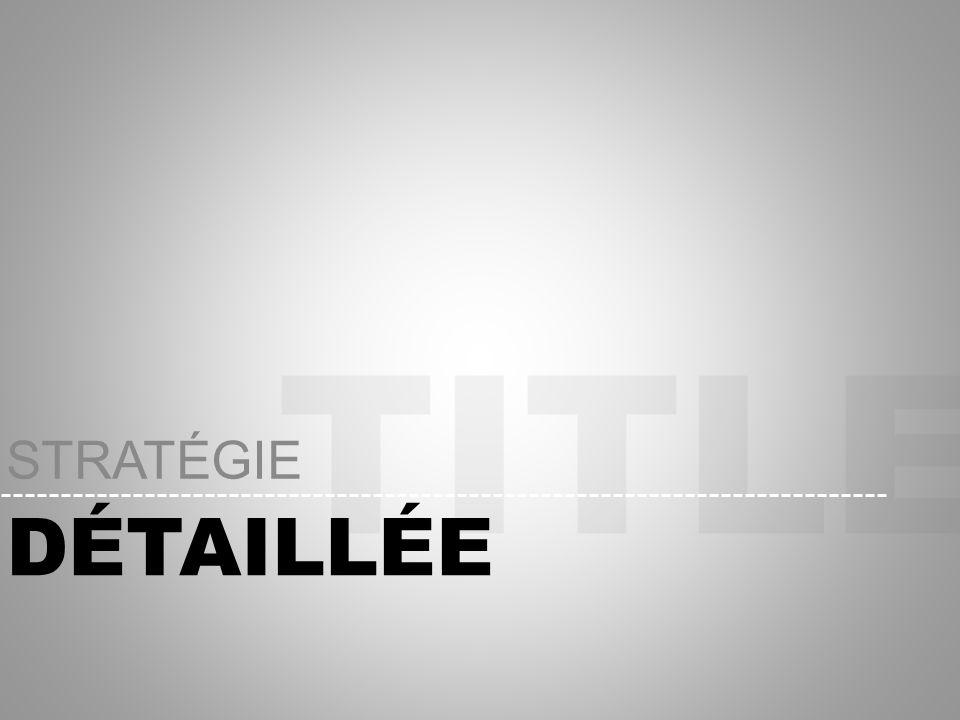 TITLE DÉTAILLÉE STRATÉGIE