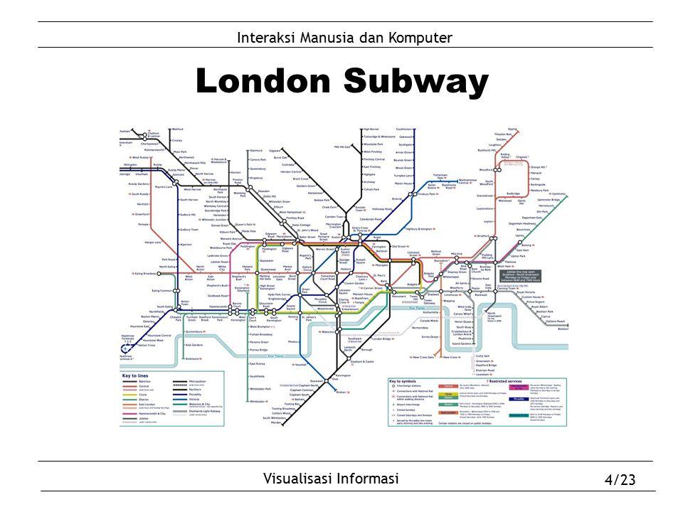Interaksi Manusia dan Komputer Visualisasi Informasi 4/23 London Subway