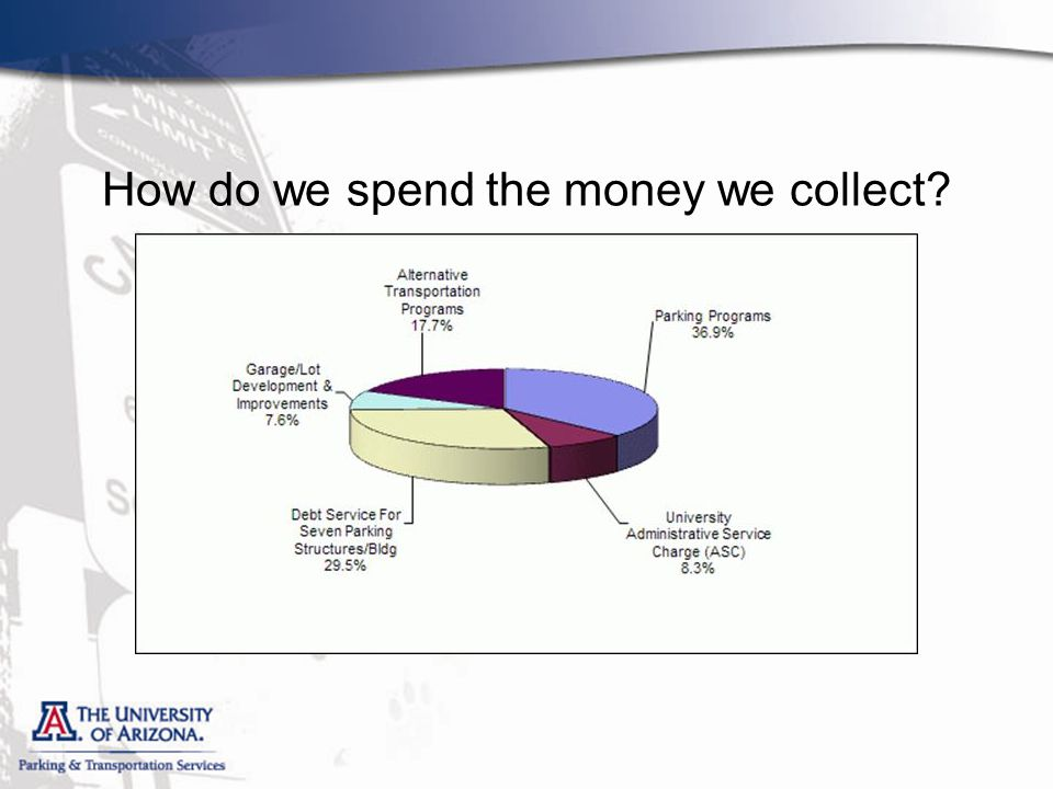 How do we spend the money we collect