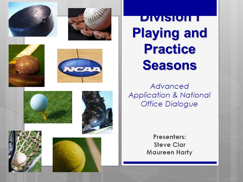 Session Outline  New Legislation Related to NCAA Bylaw 17.