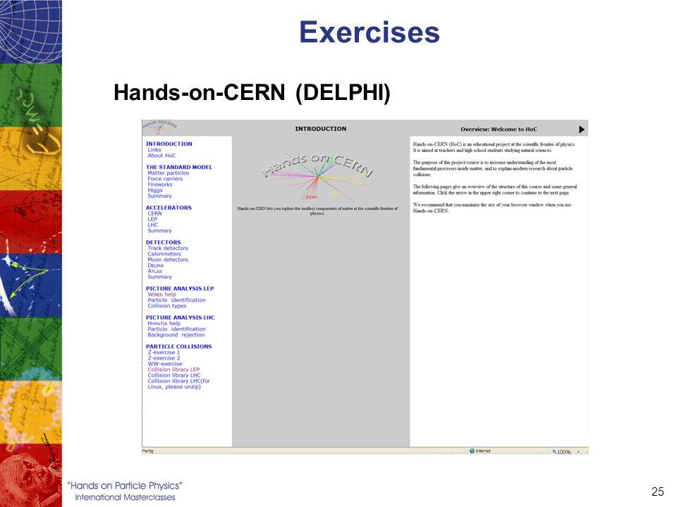 25 Exercises Hands-on-CERN (DELPHI)