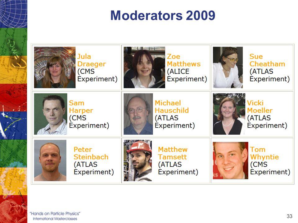 33 Moderators 2009