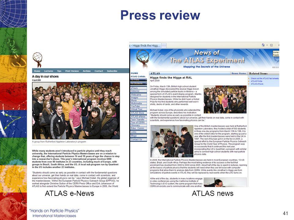 41 Press review ATLAS e-NewsATLAS news