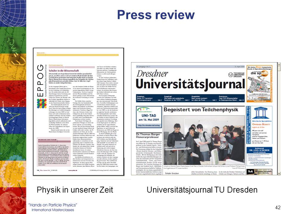 42 Press review Physik in unserer ZeitUniversitätsjournal TU Dresden