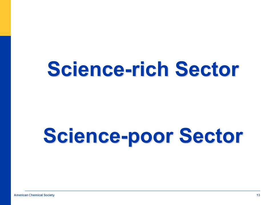 13 American Chemical Society Science-rich Sector Science-poor Sector