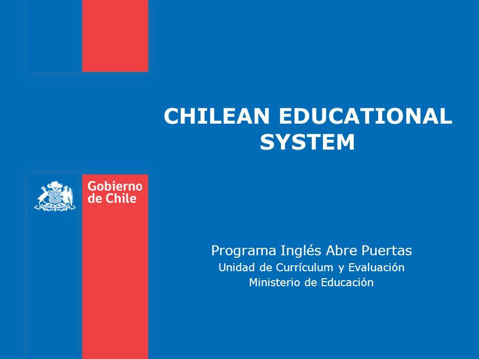 CHILEAN EDUCATIONAL SYSTEM Programa Inglés Abre Puertas Unidad de Currículum y Evaluación Ministerio de Educación
