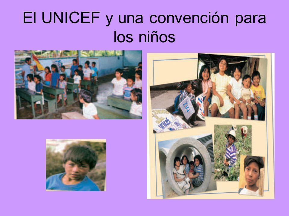El UNICEF y una convención para los niños
