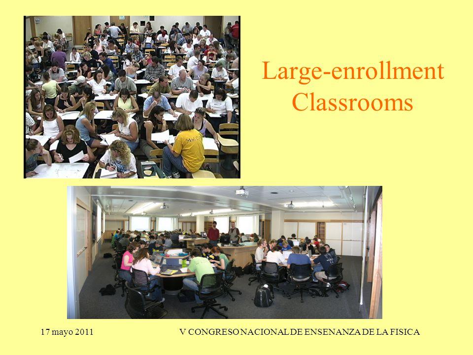 17 mayo 2011V CONGRESO NACIONAL DE ENSENANZA DE LA FISICA Large-enrollment Classrooms