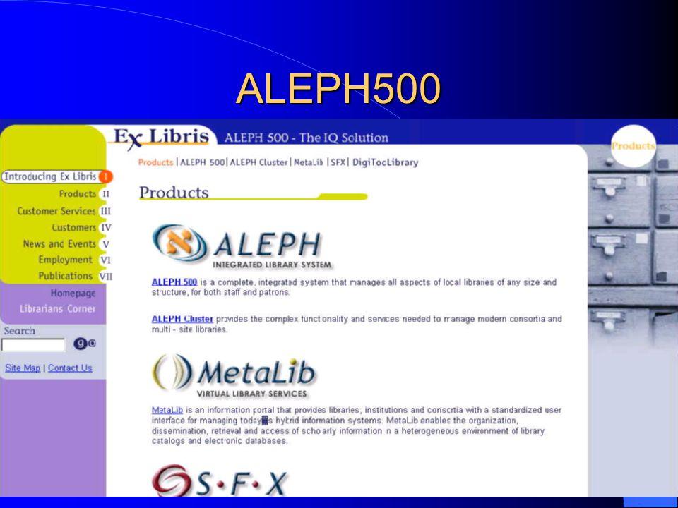 ALEPH500