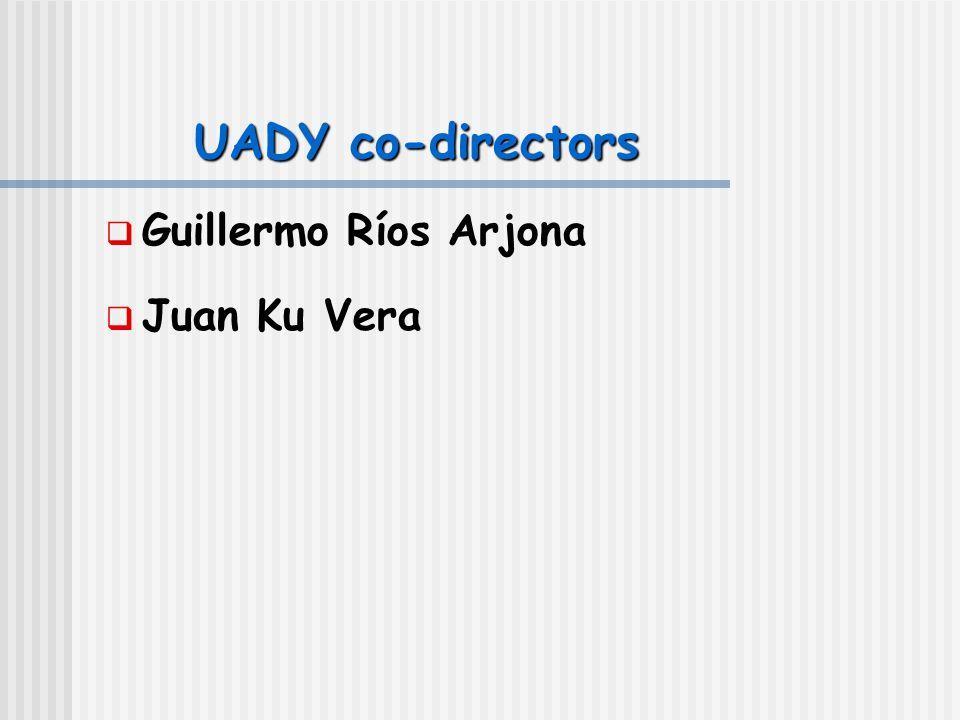 UADY co-directors  Guillermo Ríos Arjona  Juan Ku Vera